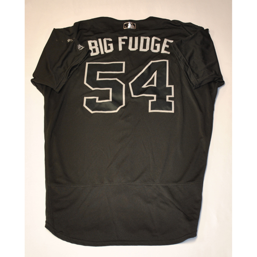 "Photo of Austin ""BIG FUDGE"" Davis Philadelphia Phillies Game-Used 2019 Players' Weekend Jersey"