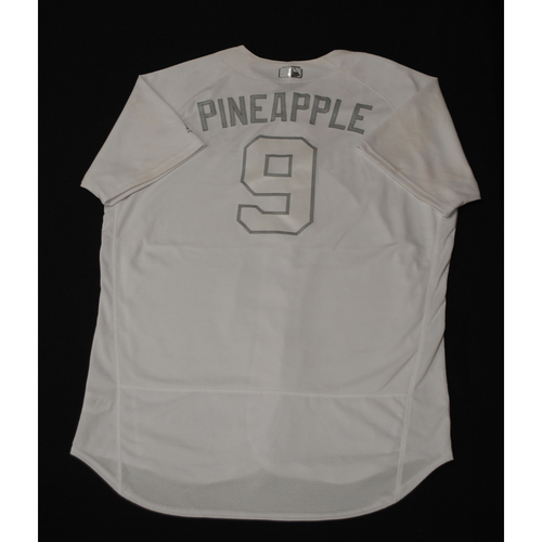 "Photo of Manny ""PINEAPPLE"" Pina Milwaukee Brewers Game-Used 2019 Players' Weekend Jersey"