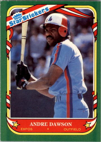 Photo of 1987 Fleer Star Stickers #33 Andre Dawson