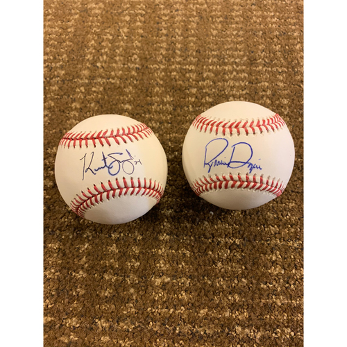 Photo of Kurt Suzuki and Brian Dozier Autographed Baseballs