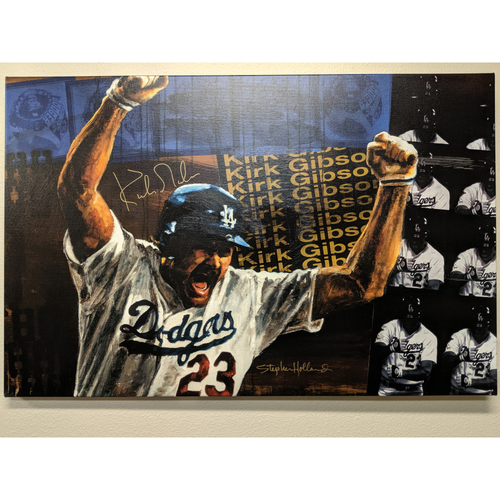 Photo of Kirk Gibson Autographed Stephen Holland Giclée Canvas