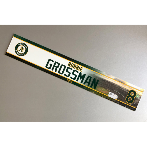 Photo of Team-Issued Robbie Grossman 2019 Locker Nameplate