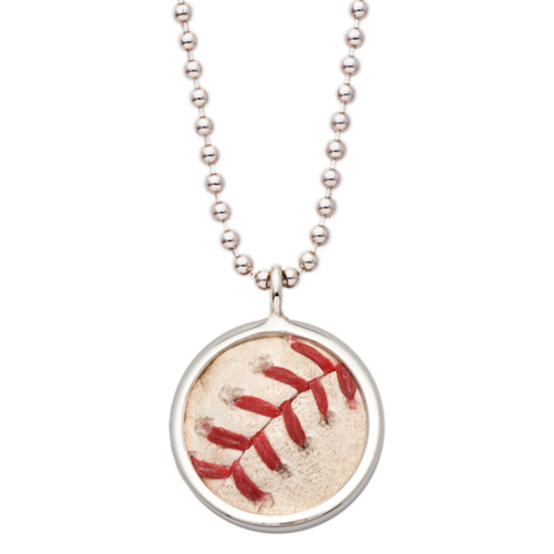 Photo of Rays Baseball Foundation: Game Used Baseball Pendant - Evan Longoria RBI double off Ivan Nova - July 29, 2016 v NYY