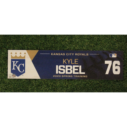 Photo of Game-Used Spring Training Locker Tag: Kyle Isbel #76