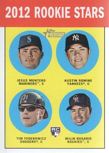 Photo of 2012 Topps Heritage #324 Jesus Montero RC/Austin Romine RC/Tim Federowicz RC/Wilin Rosario RC
