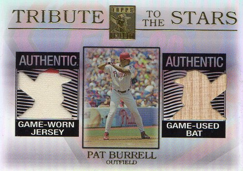 Photo of 2003 Topps Tribute Contemporary Tribute to the Stars Dual Relics #PB Pat Burrell Bat-Jsy