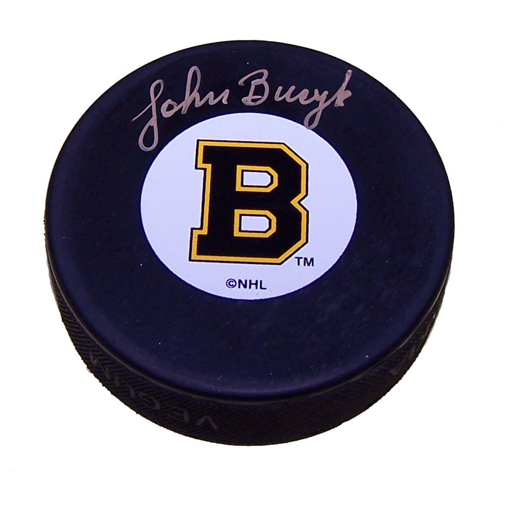 Johnny Bucyk Autographed Boston Bruins Puck