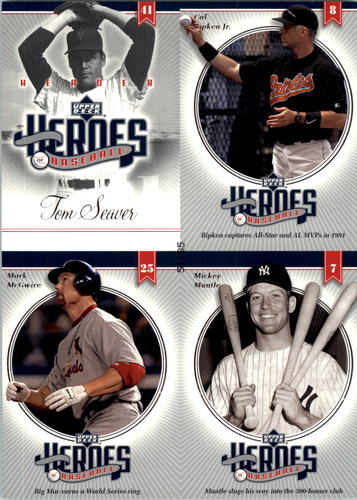 Photo of 2002 Upper Deck Prospect Premieres Heroes of Baseball 85 Quads #20 Seaver/DiMag/Seav/DiMag