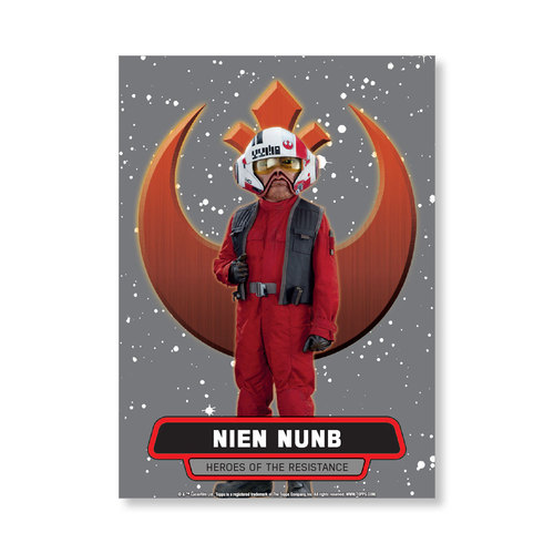 Nien Nunb 2016 Star Wars The Force Awakens Chrome Metal Poster - # to 99
