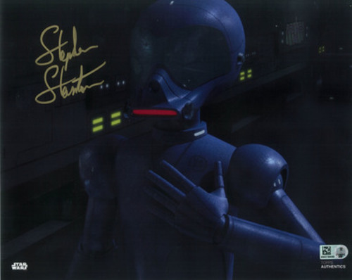 Stephen Stanton as AP-5 8x10 Autographed in Gold Ink Photo