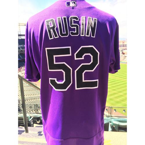 Photo of Colorado Rockies Chris Rusin Game-Used Jersey