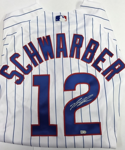 Photo of Kyle Schwarber Autographed Authentic Cubs Jersey
