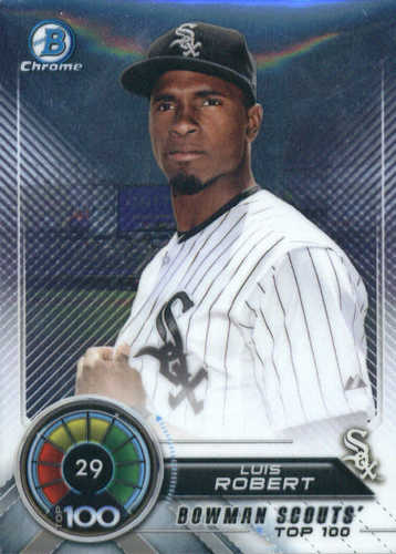 Photo of 2018 Bowman Chrome Scouts Top 100 #BTP29 Luis Robert