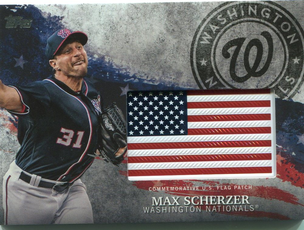 2018 Topps Independence Day U.S. Flag Relics #IDMLMS Max Scherzer
