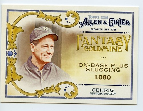 Photo of 2018 Topps Allen and Ginter Fantasy Goldmine #FG33 Lou Gehrig