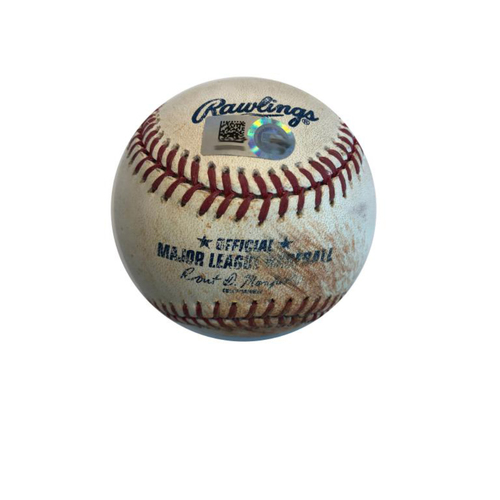 Photo of Game-used Baseball: 9/15/2015 Jason Hammel vs. Andrew McCutchen, Single