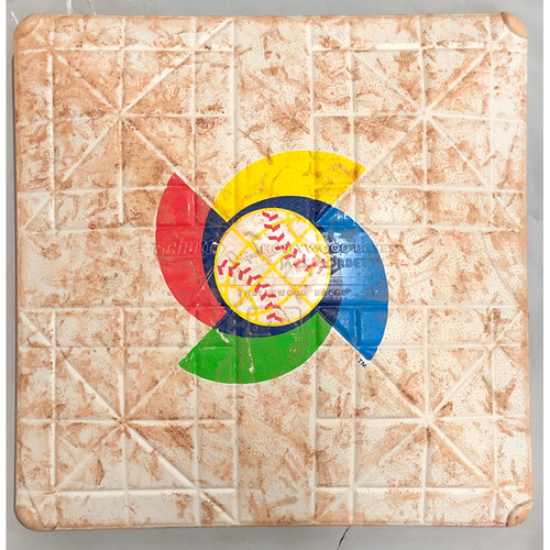 Photo of 2017 World Baseball Classic Game Used Base- 2nd Base (Innings 1-6) (Cuba at Japan)