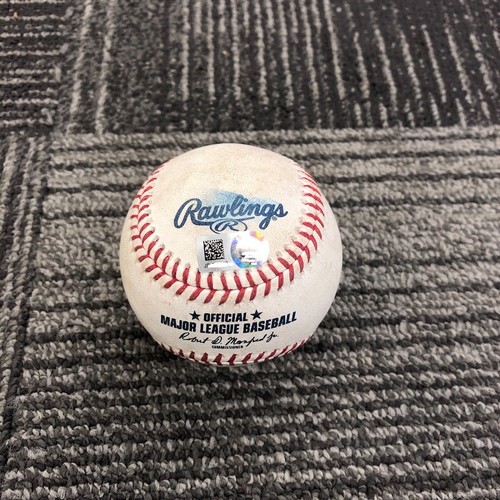 2019 Game Used Baseball used on 4/13 vs Colorado Rockies - T-6: Madison Bumgarner to Nolan Arenado - Foul ball