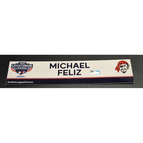 Photo of 2019 Little League Classic - Game Used Locker Tag - Michael Feliz,  Chicago Cubs at Pittsburgh Pirates - 8/18/2019