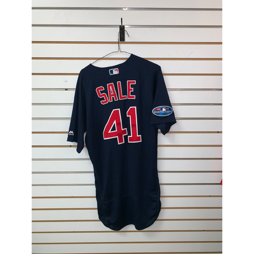 Photo of Chris Sale Game Used September 21, 2018 Road Alternate Jersey