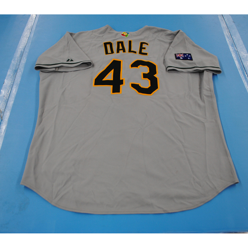 Photo of 2006 Inaugural World Baseball Classic: Phil Dale Game-worn Team Australia Road Jersey