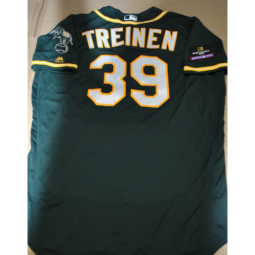 Photo of Game-Used Jersey - 2019 Japan Series - Oakland Athletics at Nippon Ham Fighters - 3/18/2019 - Blake Treinen