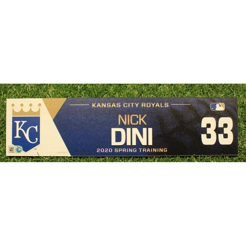 Photo of Game-Used 2020 Spring Training Locker Tag: Nick Dini #33
