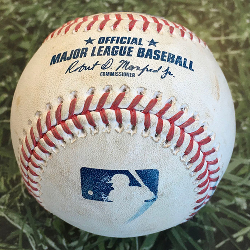 Game-Used Baseball PIT@MIL 08/29/20 - Chris Stratton - Luis Urias: Foul