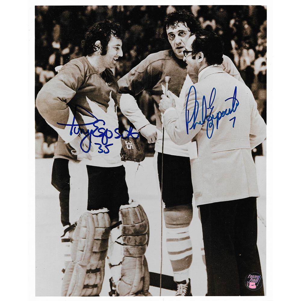 Phil & Tony Esposito Autographed 1972 Summit Series 8X10 Photo