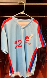 Photo of Jacksonville Expos Fauxback Jersey #22 Size 46