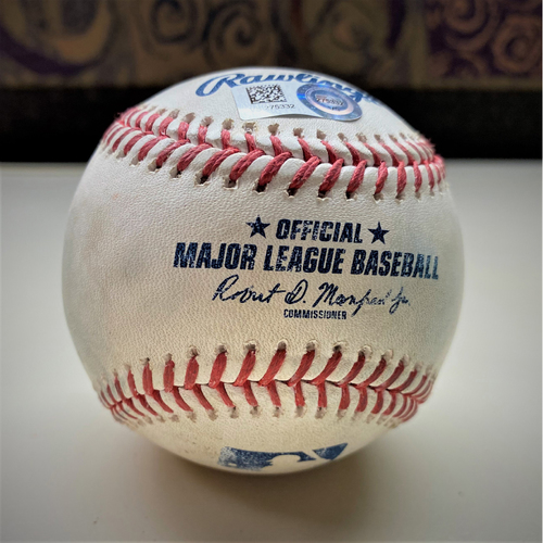Photo of Game-Used Baseball:  Carlos Carrasco Cleveland Indians Strikeout (MLB AUTHENTICATED)