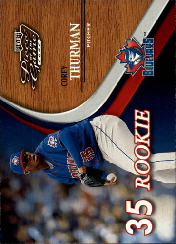Photo of 2002 Playoff Piece of the Game #75 Corey Thurman ROO RC