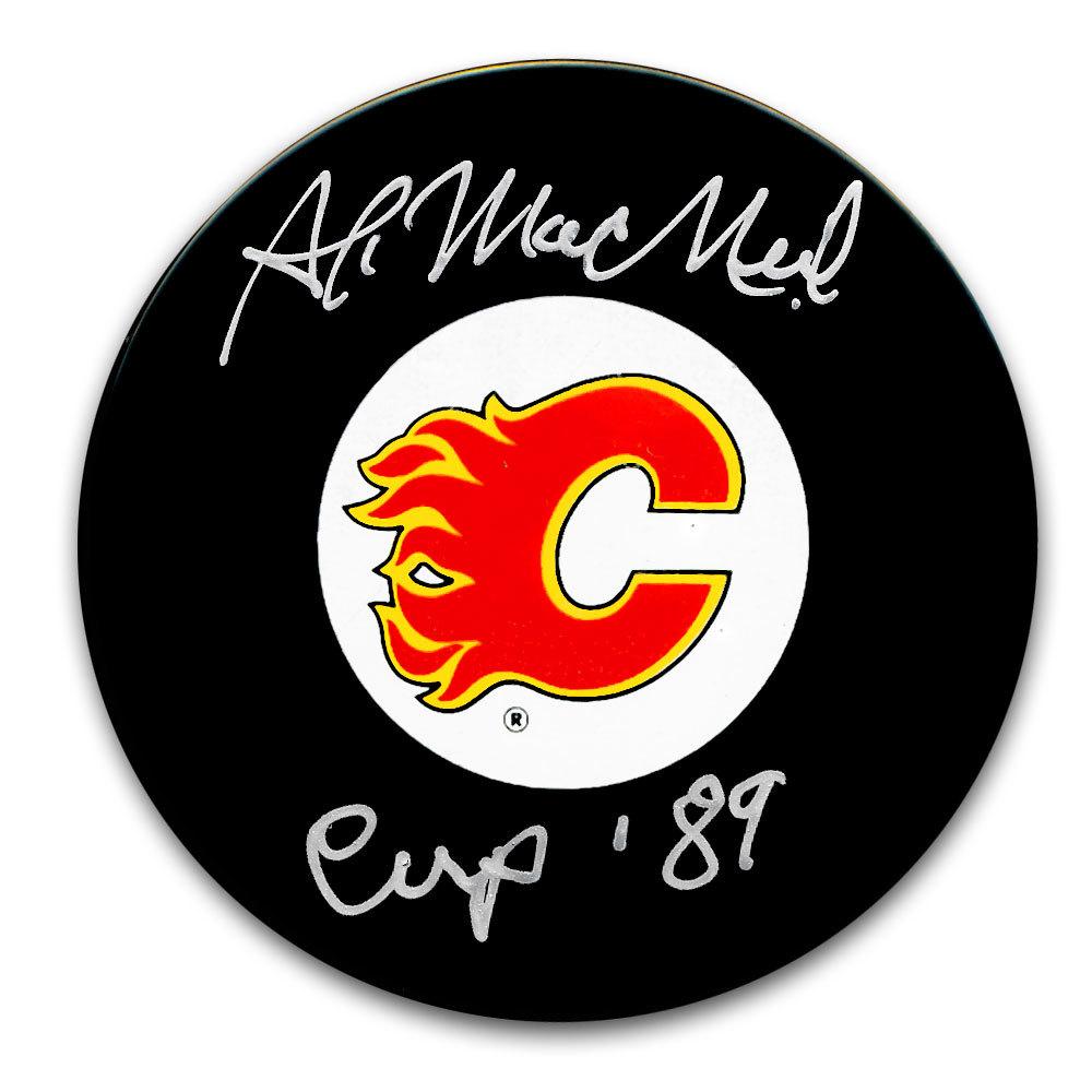 Al MacNeil Calgary Flames Autographed Puck