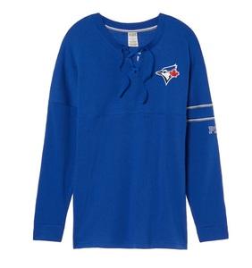 Toronto Blue Jays Love PINK Bling Varsity Pullover by Victoria's Secret