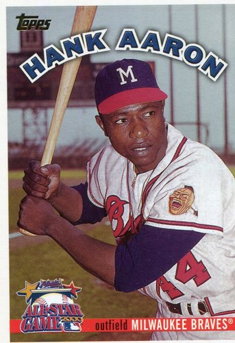 Photo of 2000 FanFest Aaron #1 Hank Aaron/Topps Hall of Fame Class of 1982