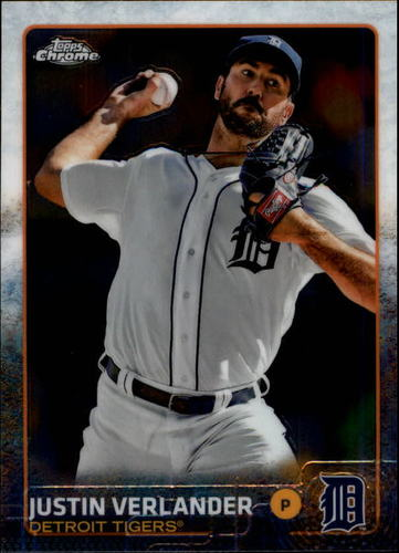 Photo of 2015 Topps Chrome #191 Justin Verlander