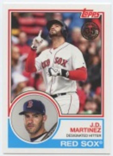 Photo of 2018 Topps Update '83 Topps #8323 J.D. Martinez