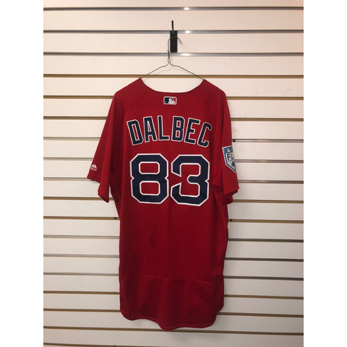 Photo of Bobby Dalbec Team-Issued 2019 Spring Training jersey