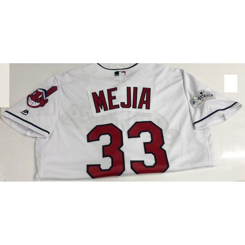 Francisco Mejia Team Issued 2017 Post Season Home Jersey