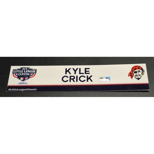 Photo of 2019 Little League Classic - Game Used Locker Tag - Kyle Crick,  Chicago Cubs at Pittsburgh Pirates - 8/18/2019