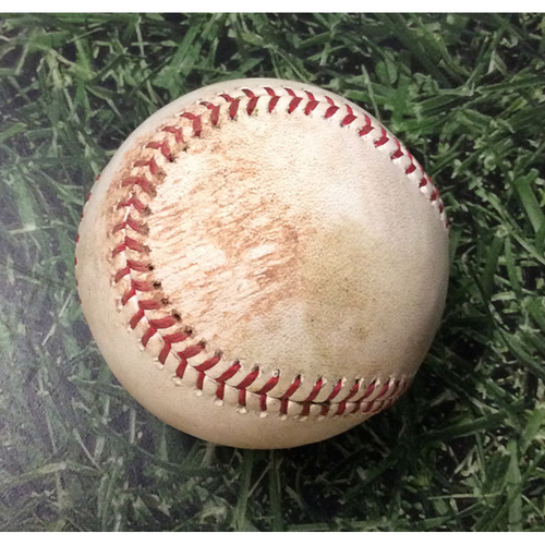 Photo of Game-Used Baseball CHC@MIL 07/27/19 - Chase Anderson - Willson Contreras: Double