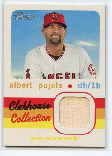 Photo of 2020 Topps Heritage Clubhouse Collection Relics #CCRAP Albert Pujols