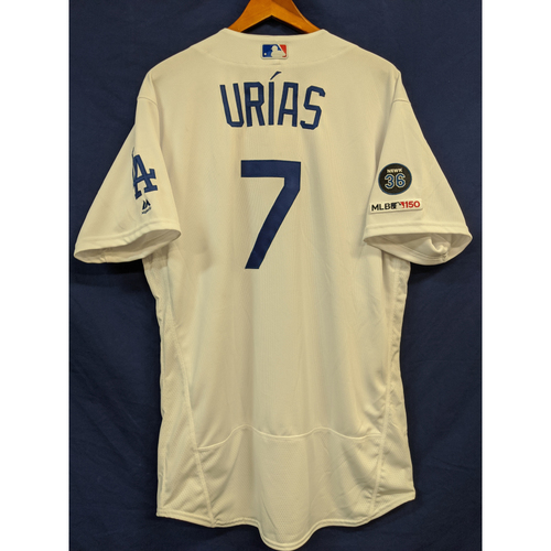 Photo of Julio Urías 2019 Team Issued Home Jersey