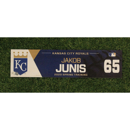Game-Used Spring Training Locker Tag: Jakob Junis #65