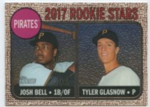Photo of 2017 Topps Heritage Chrome #36 Josh Bell/Tyler Glasnow