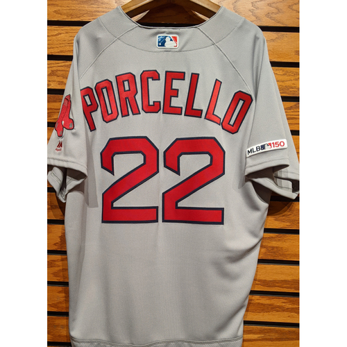 Photo of Rick Porcello #22 Team Issued Road Gray Jersey