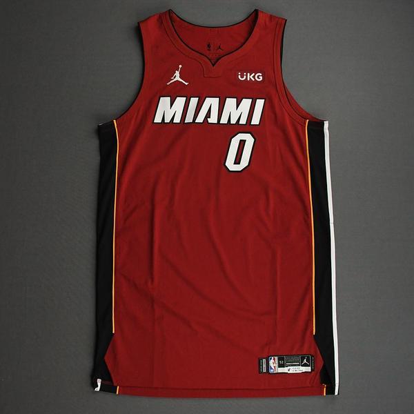 Image of Meyers Leonard - Miami Heat - Game-Worn - Statement Edition Jersey - Christmas Day 2020