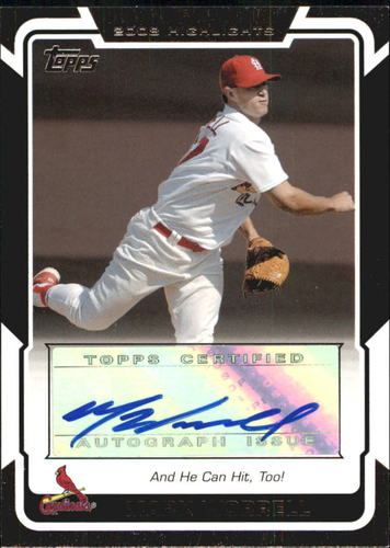 Photo of 2008 Topps Highlights Autographs #MW Mark Worrell  H UPD