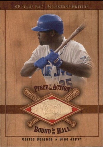 Photo of 2001 SP Game Bat Milestone Piece of Action Bound for the Hall #BCD Carlos Delgado