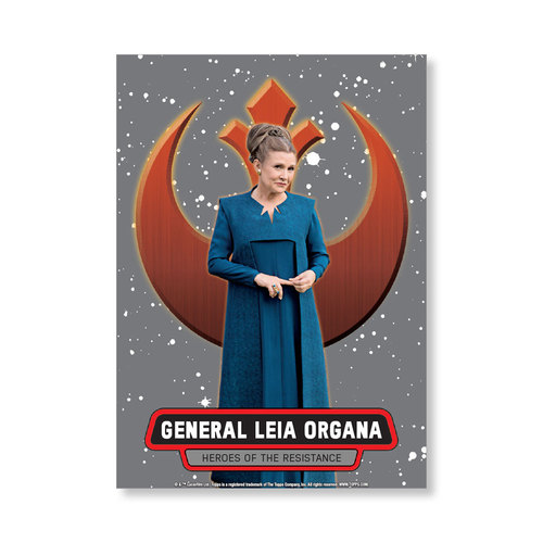 General Leia Organa 2016 Star Wars The Force Awakens Chrome Metal Poster - # to 99